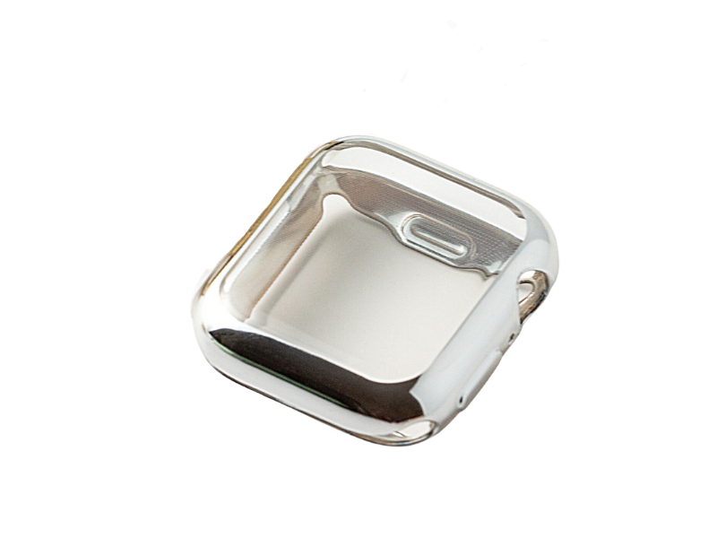 New! Glossy Apple Watch Case - Silver & Gold In Stock