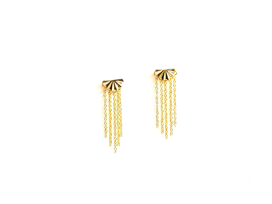 Starburst Earring with Fringe