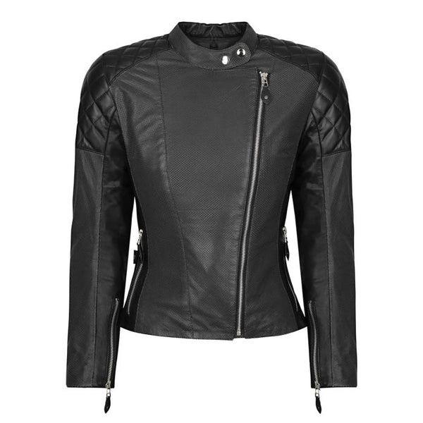 Sugar Glider Leather Jacket, Black