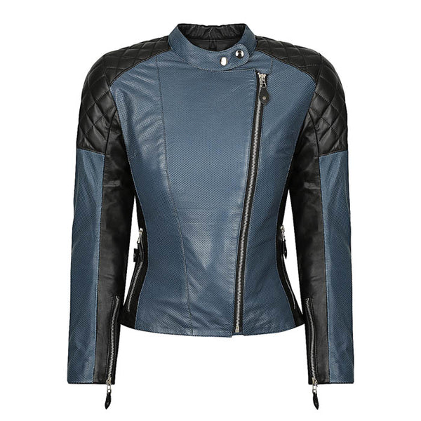 Sugar Glider Leather Jacket, Blue
