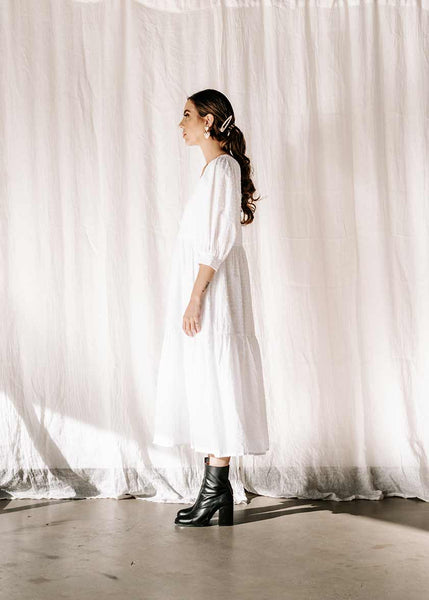 Dahlia Dress | White Cloud