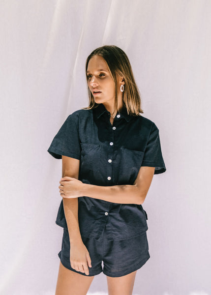 Thelma Dress Shirt | Navy