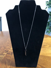 Load image into Gallery viewer, Cursive Resilient Pendant Choker Style Vertical Necklace