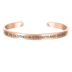 Positive Inspirational Quote Stamped Cuff Bracelets For Women