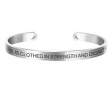 Load image into Gallery viewer, Positive Inspirational Quote Stamped Cuff Bracelets For Women