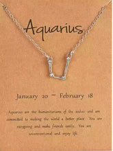 Load image into Gallery viewer, Shiny Crystal Star Zodiac Sign 12 Constellation Pendent Necklace