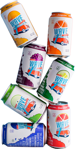 wave soda variety pack 7 fruit flavors