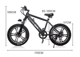 "Nakto Fat Tire Electric Bicycle 20"" Discovery 300W"