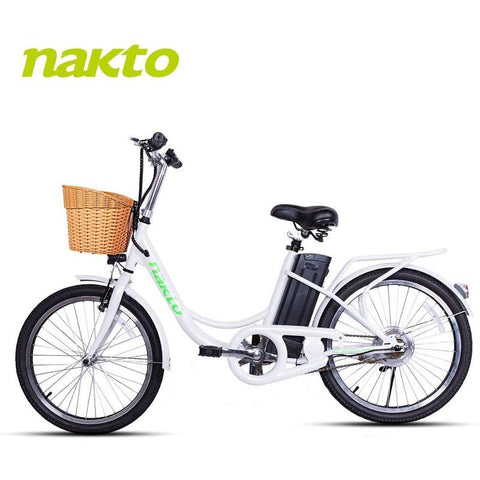 "Nakto 22"" Elegance 250W Electric City Cruiser Bike"