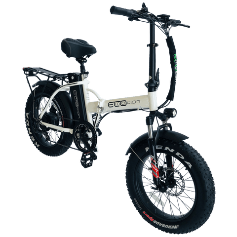 EcoMotion Mini Pro 48V 500W Electric Folding Fat Tire Bike White