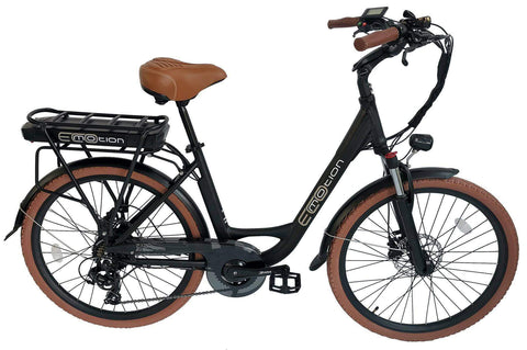 EcoMotion City 36V 350W Step Through City Electric Bicycle Black