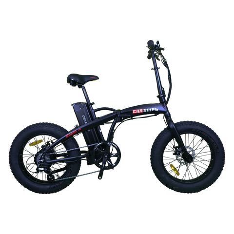 Civi Bikes Rebel Folding 500W Matte Black