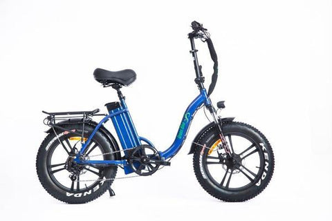 GreenBike GB750 LOW STEP FAT TIRE Blue