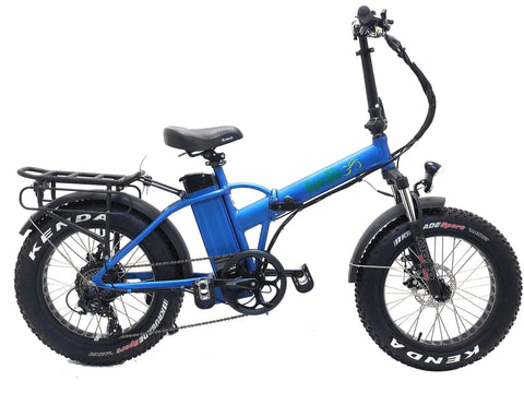 Greenbike USA GB1 500W Folding (Fat Tire) Blue