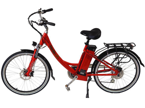 Greenbike USA GB2 500W Cruiser Bike Red