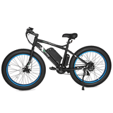 Ecotric Beach Snow 500W Electric Fat Tire City Bikes Blue