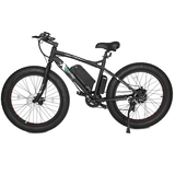 Ecotric Beach Snow 500W Electric Fat Tire City Bikes Black