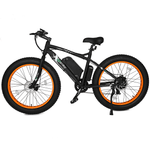 Ecotric Beach Snow 500W Electric Fat Tire City Bikes Orange
