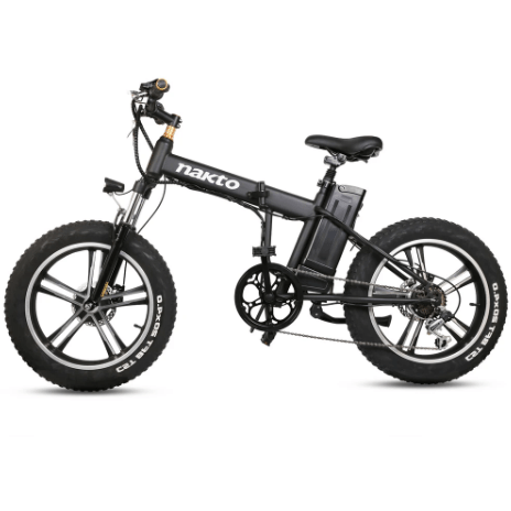 "Nakto 20"" Mini Cruiser Fat Tire Folding 350W Electric City Bike"