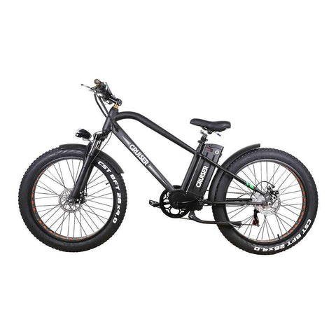"Nakto 500W 26"" Super Cruiser Electric Fat Tire Bike"