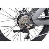 QuietKat Ridgerunner 750/1000 Watt Full Suspension Fat Tire Electric Mountain Bike Charcoal