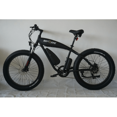 Revolve Rough Rider Electric Cruiser Bike Black