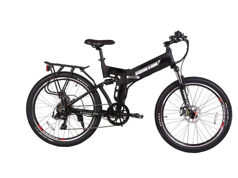 X-Treme X-Cursion Elite 24 Volt Electric Folding Mountain Bicycle Black