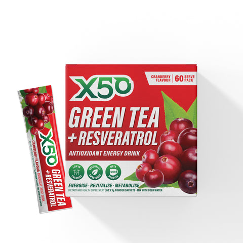 Cranberry Green Tea X50 + 3 x Showtime Samples