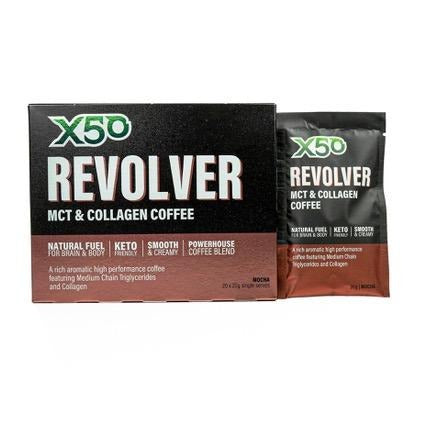 Mocha Revolver MCT & Collagen Coffee + FREE Travel Mug