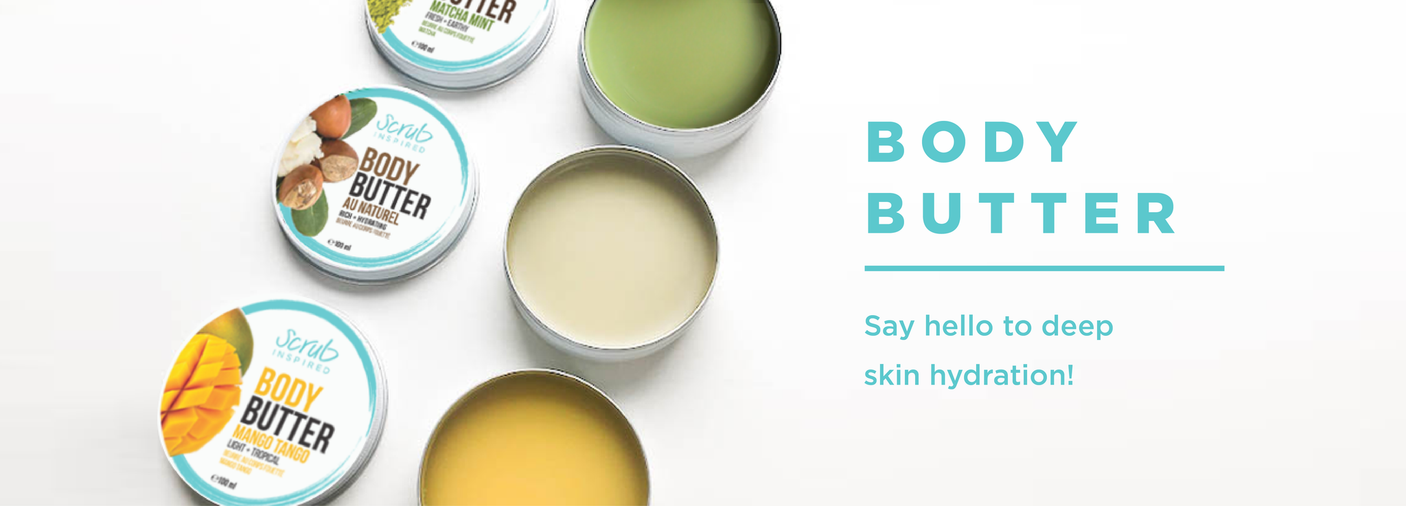 all natural body butter by scrub inspired that will deeply hydrate your skin