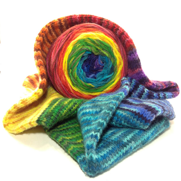 Hand Dyed Striping Cowl Kit