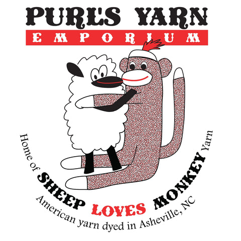 Purl's Sheep Loves Monkey Tote Bag