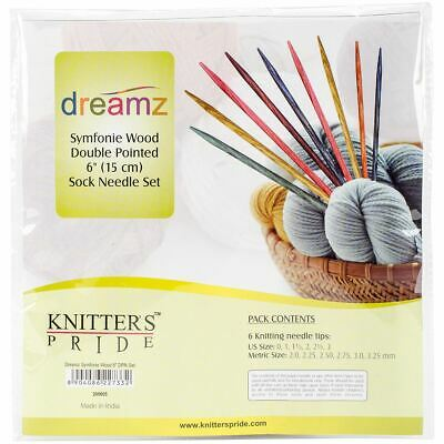 "Knitter's Pride Dreamz Symfonie Wood 6"" DPN Sock set"