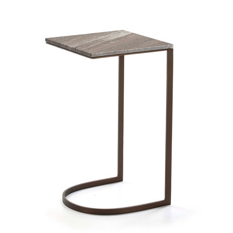 Sofa Side Table with marble and metal