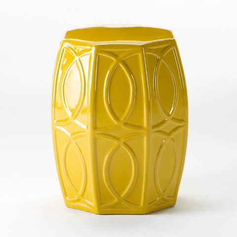 Ceramic Side Table/stool in Yellow