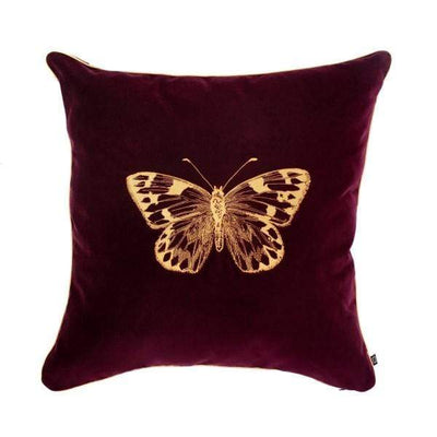 Design KNB Aubergine Luxury Velvet Cushion Insectarium N ° 3