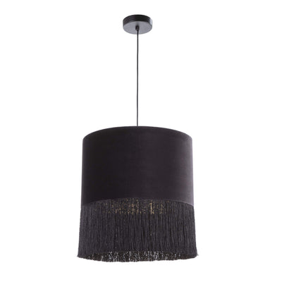 Design KNB Black / 40WX40DX43H cm Ceiling Lamp with a Velvet/Fabric Lampshade