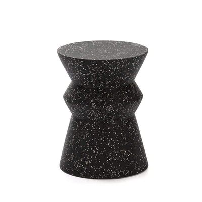Design KNB Black Fiberglass Stool/Side Table