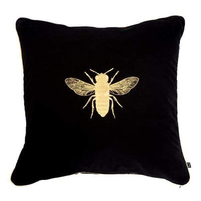 Design KNB Black Luxury Velvet Cushion Insectarium N ° 4