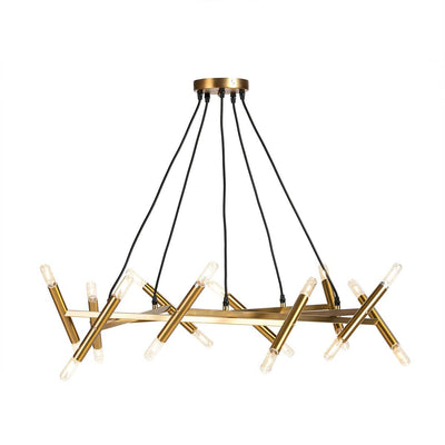 Design KNB Ceiling Lamp/ Chandelier in Golden Metal