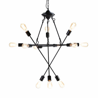 Design KNB Ceiling Lamp in Black Metal