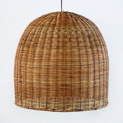 Design KNB Ceiling Lamp in Natural Tone Wicker