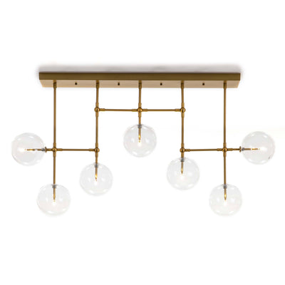Design KNB Ceiling lamp with Glass and Golden Metal