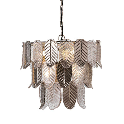Design KNB Ceiling lamp with Glass and Silver Metal