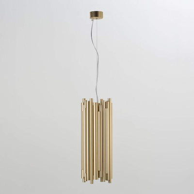 Design KNB Ceiling Light with a Golden Metal Lampshade
