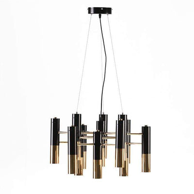Design KNB Ceiling Light with Metal Golden/Black Lampshades