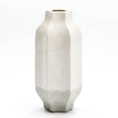 Design KNB Ceramic Vase in Grey and White