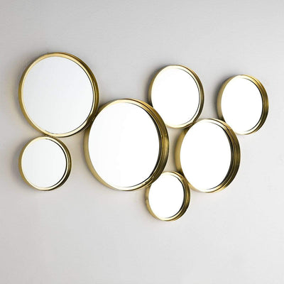 Design KNB Cluster of Round Golden Mirrors