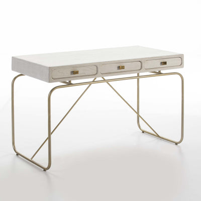 Design KNB Contemporary Desk in White Wood