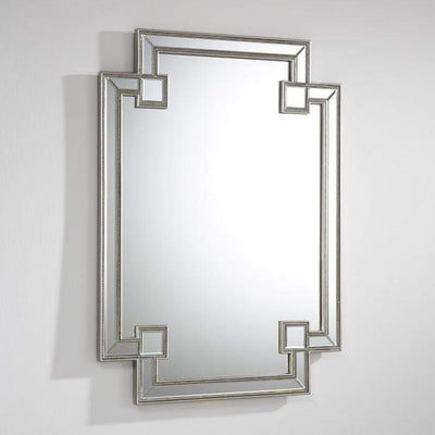 Design KNB Decorative Mirror in Silver with details